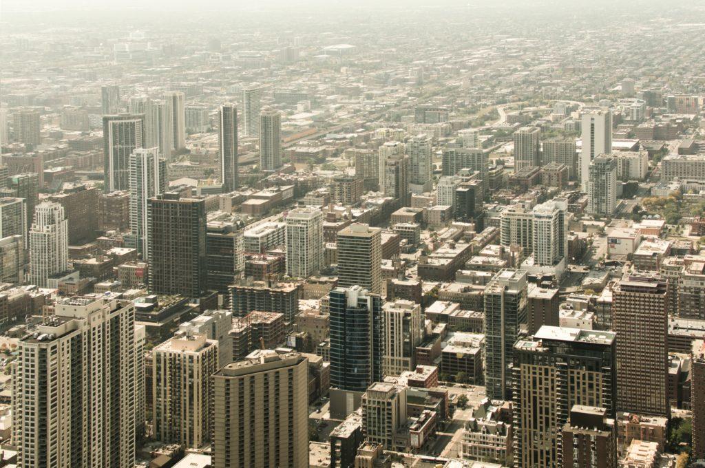構想ビルが立ち並ぶ都市